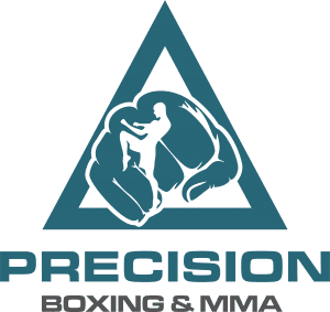 precision triangle blue logo