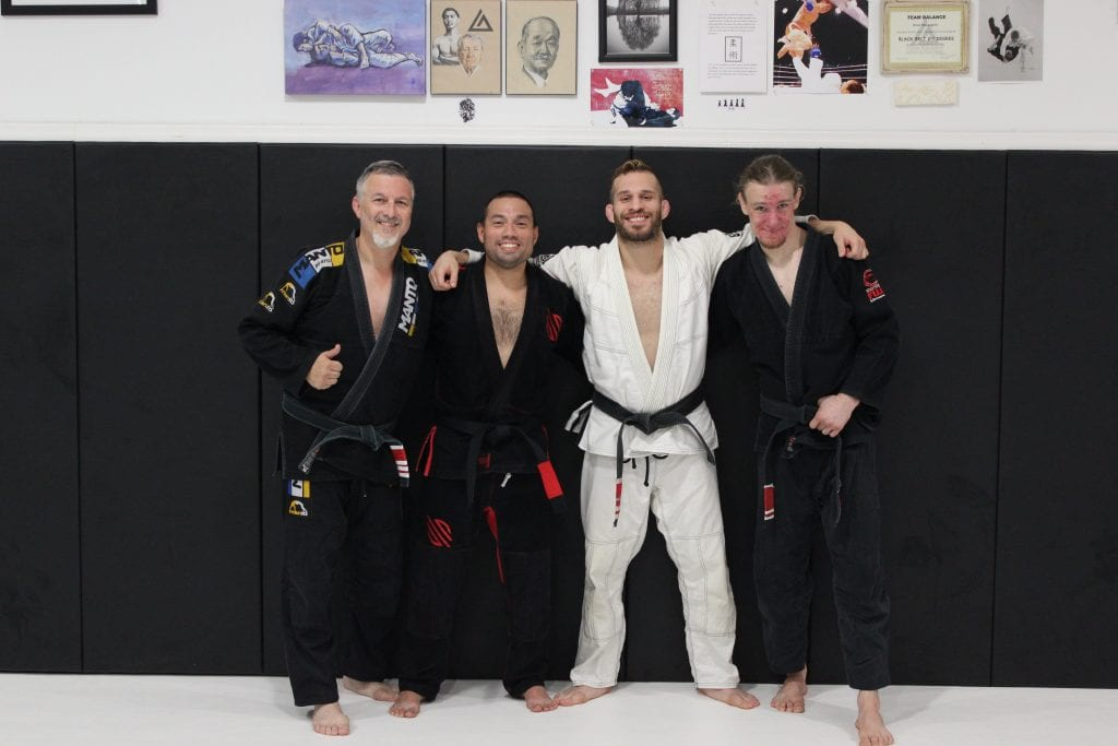 Jon receives black belt