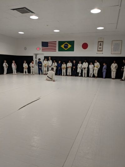 wide shot of mma class