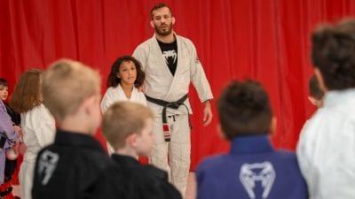 brian teaching kids class